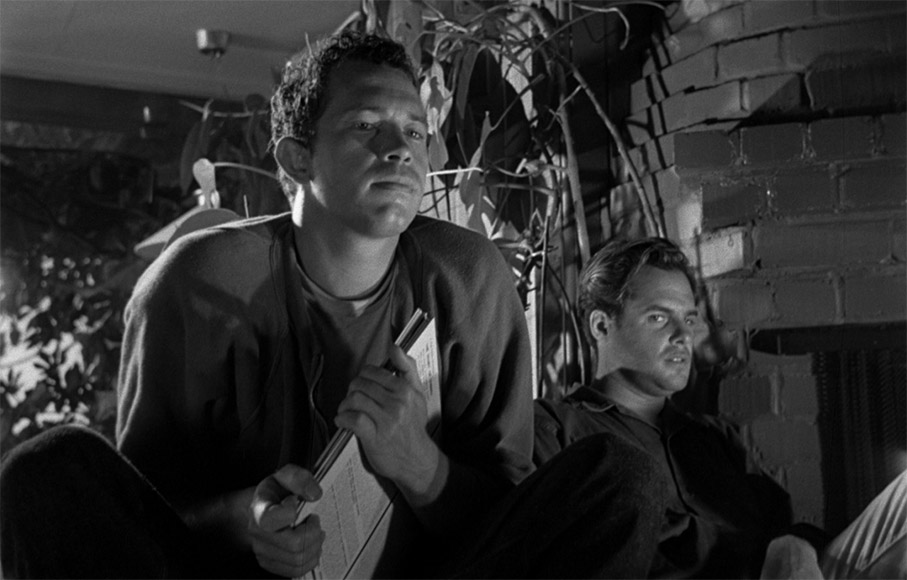 Warren Oates and Corey Allen in private Property